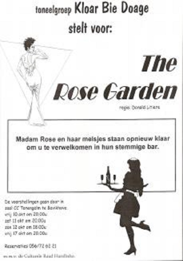 affiche voorstelling 2003: the rose garden
