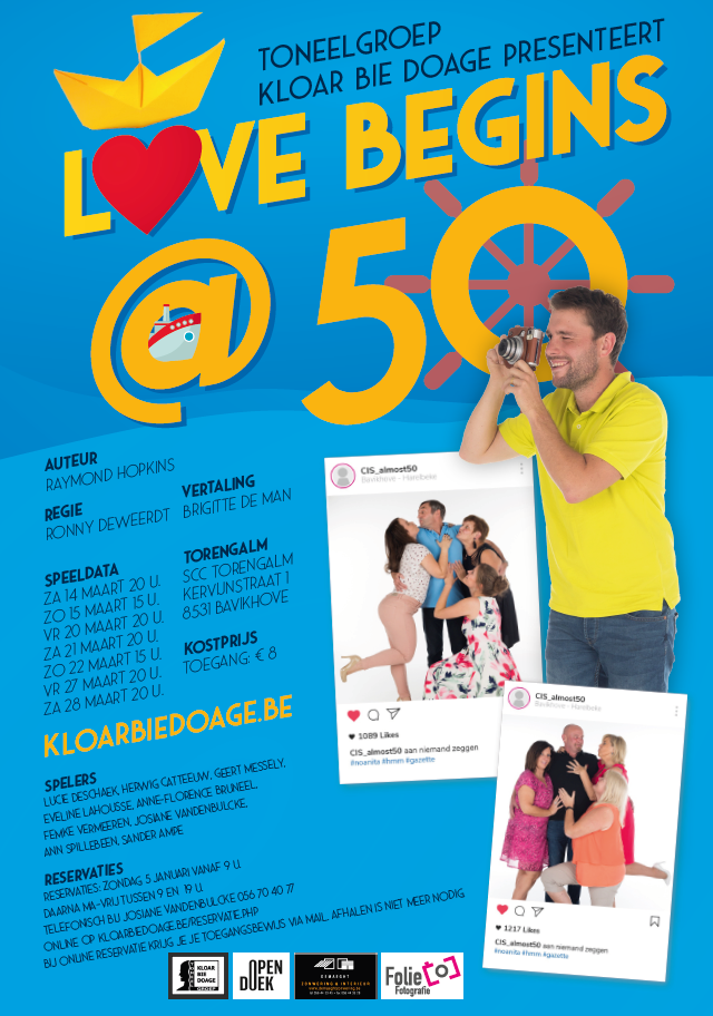 Affiche voorstelling 2020: Love begins at 50